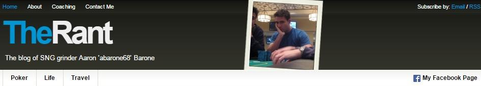 Aarone Barone's Poker Blog
